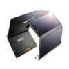 CHOETECH 24W Solar Ladegerät mit 2 USB Ports Wasserdicht faltbares Solarpanel für iPhone, iPad, Samsung, Lautsprecher und andere Geräte -