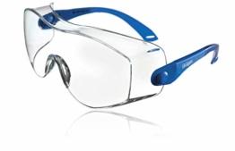 Dräger Schutzbrille X-pect 8120 | Einstellbare Überbrille auch für Brillenträger | Für Baustelle, Labor, Werkstatt und Fahrrad-Fahren | Leicht, klar und kratzfest | 1 St. - 1